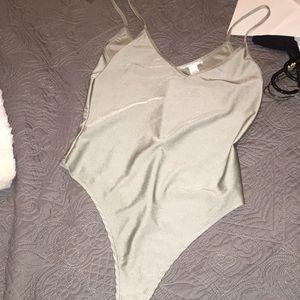 Silver rave bodysuit